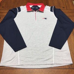 Antigua Shirts - Antigua • Automatic 1/4 Zip Pullover - NE Patriots